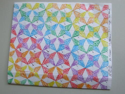 Kaleidoscope Bee Quilt Idea.