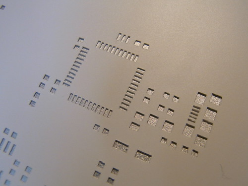 Solder stencil cut using Craft Robo cutting plotter