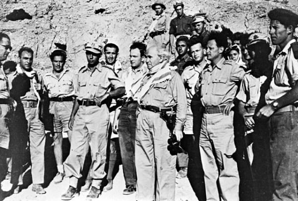 Yitzhak Rabin as Young Palmach Commander on Tour of Negev ...