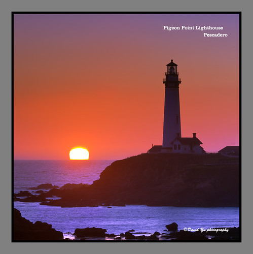 Pigeon Point Lighthouse Pescadero sunset moment by davidyuweb