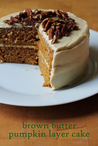 brown butter pumpkin layer cake