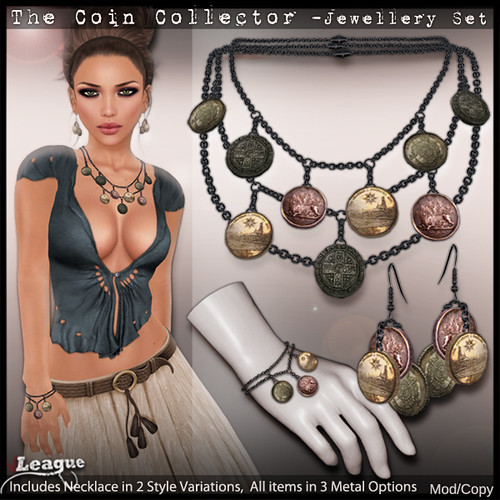 *League* The Coin Collector Jewellery Set