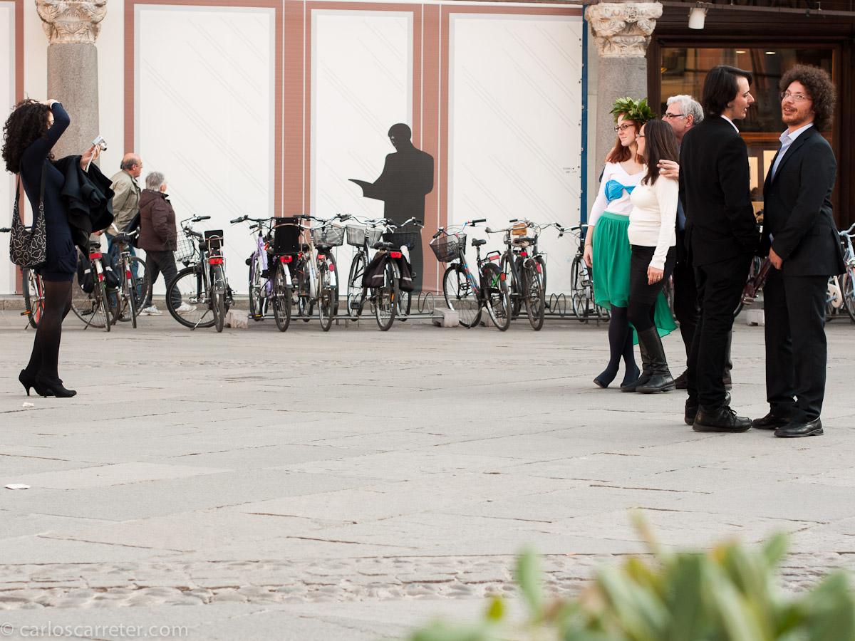 Laureata en la piazza del Popolo