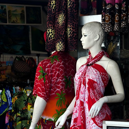sarong dress.. what colour hair should she wear?