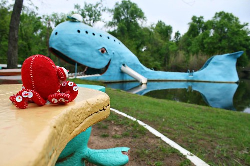 The Blue Whale of Catoosa & new friend, Route 66, Oklahoma, USA. Photo copyright Jen Baker/Liberty Images; all rights reserved.