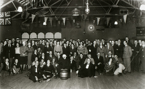 Guy Fawkes Night at the Crewe Rink, 1928