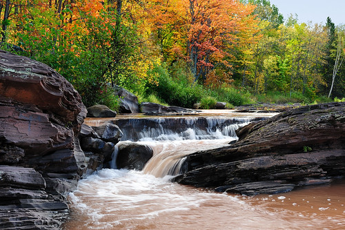 """Bonanza Falls"" - (Big Iron River) Silver City, Michigan"