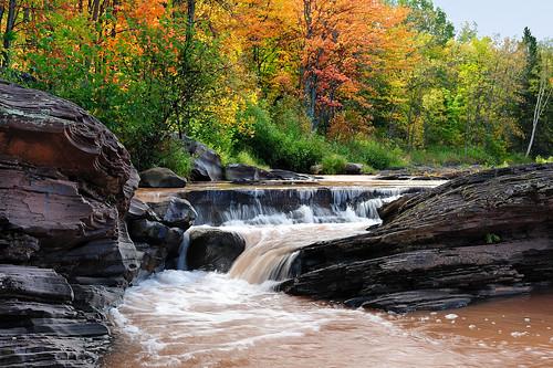 """Bonanza Falls"" - (Big Iron River) Silver City, Michigan"