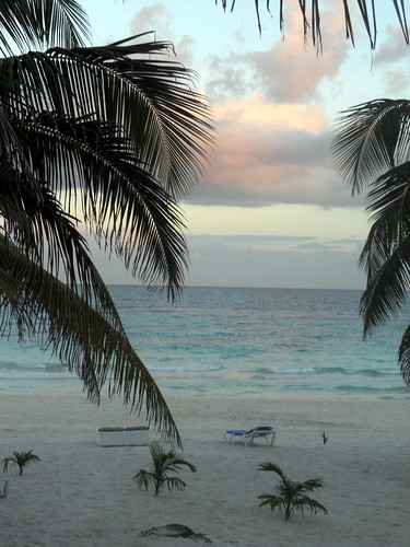 Tulum beach after sunset (2)