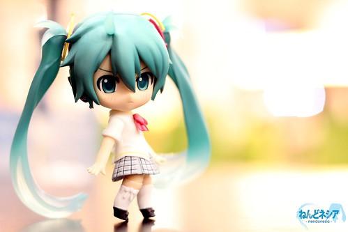 Miku the school girl