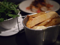 thick cut chips with harrisa. Graze at Martin No. 38, Martin Road