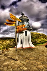 Destination Sign Cape Reinga Lighthouse Northland New Zealand