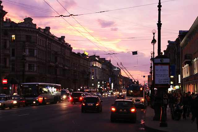 Sunset at Nevskij Prospekt