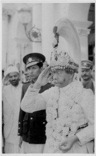 """Sindoor Jatra day"", Jestha, 2005BS, H.H. Mohan at Singha Durbar, Sridhar Shumsher  (Right to left)"
