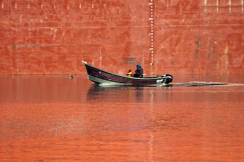 Gone Fishing Boat Orange