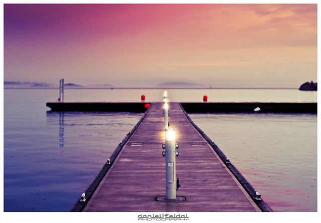 Visions of Norway. Pier at dusk