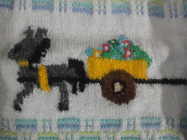 Horse-cart on a Sweater