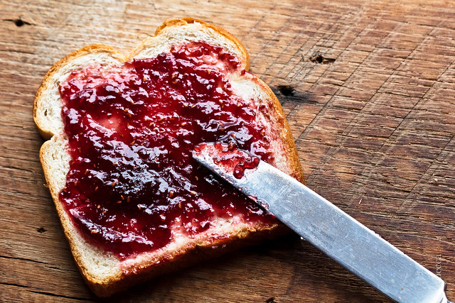 Jelly Jam on Bread by Roger's Wife