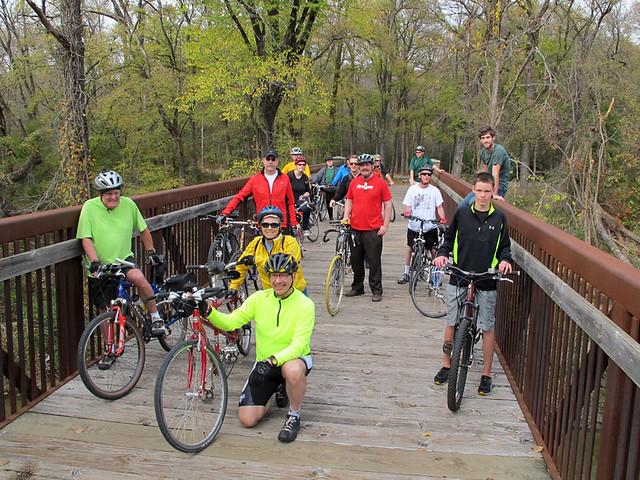 Black Friday Ride - Spring Creek Park Bridge