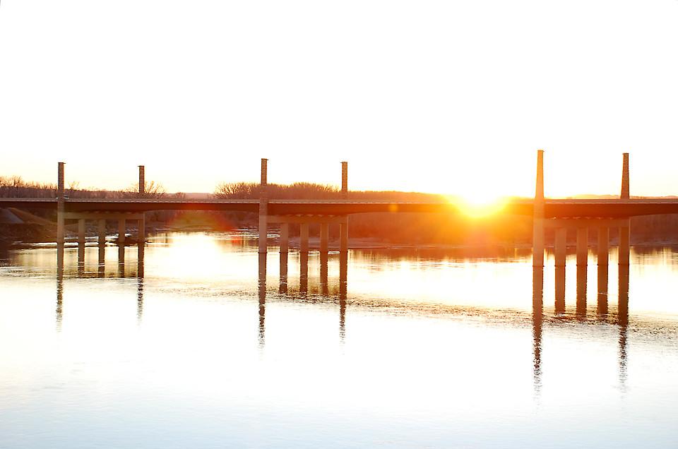 New Bridge at Sunset