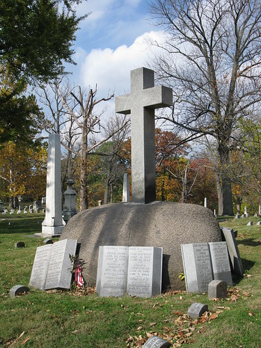 Peirce family plot in Woodland Cemetery, Section 77