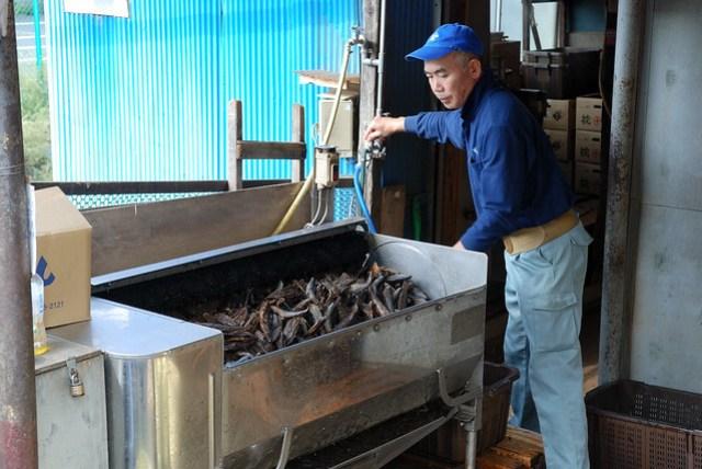 這是一家賣柴魚(?)片的店,現場可以看到製作的方式,很香,還遇到一群台灣遊客買了好幾包