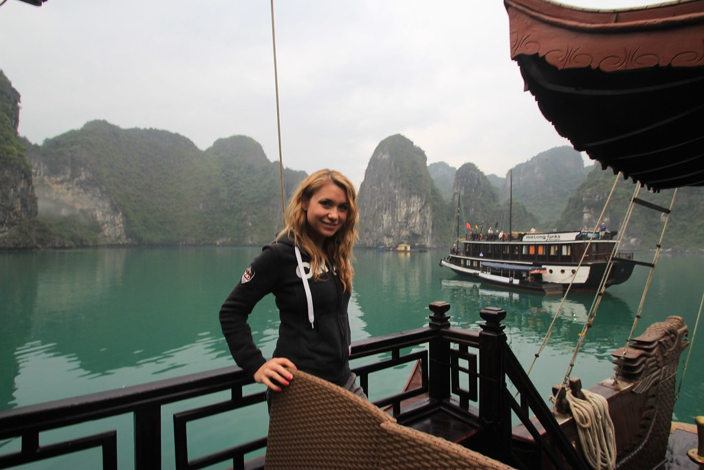 Chinese Junk Boat Cruise - Halong Bay, Vietnam