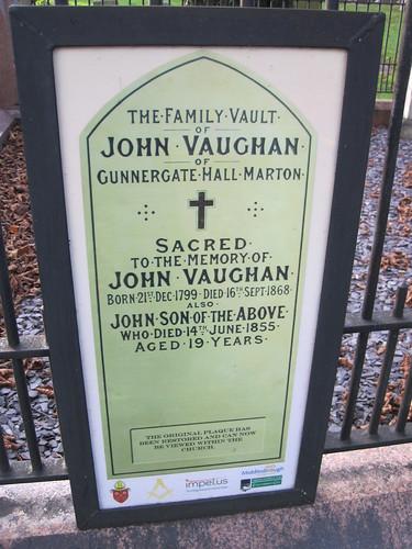 John Vaughan Family Vault