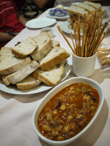 Callos, Rye Bread and Bread Sticks at Monsee's