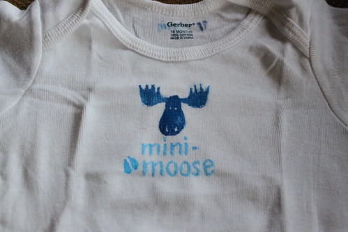 9/50 - Mini Moose onesie