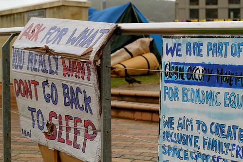 Wednesday: occupy wellington.