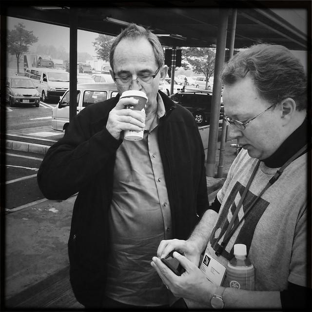Dan & Pieter discussing the readings