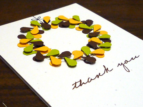 Thank You Wreath - Close Up