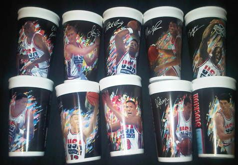 McDonalds Dream Team cups