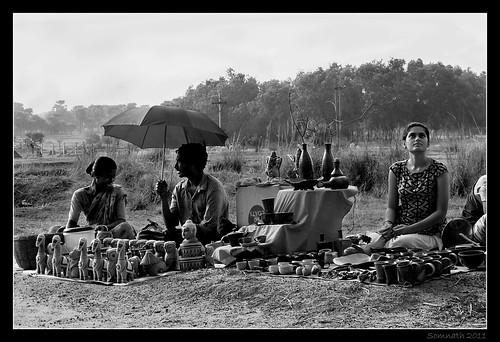At 'Sonajhurir Haat' (Market at Sonajhuri), Santiniketan (Bolpur) by Somnath Mukherjee Photoghaphy