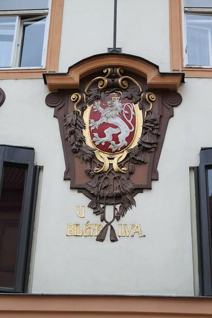 """Emblème """"Au Lion Blanc"""", Prague"""