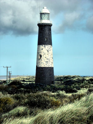 Spurn Point Lighthouse by Sarah L Couzens