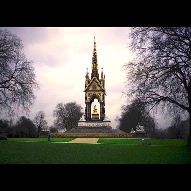 Albert Memorial in Hyde Park. Queen Victoria wad in mourning the second half of her life after he died.