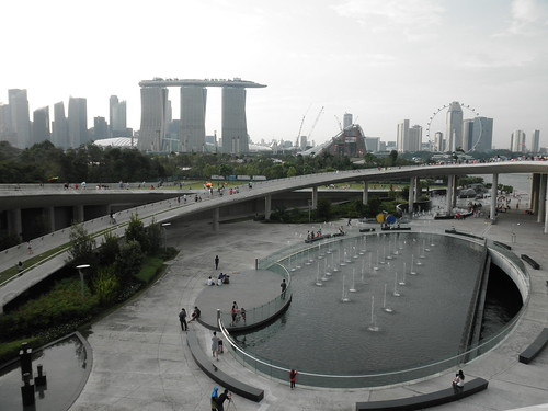 Mirador gratis, situado en Marina Barrage, en Singapur