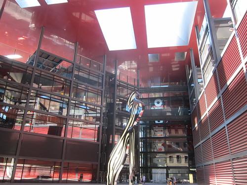 Reina Sofía. Patio interior Edificio Nouvel