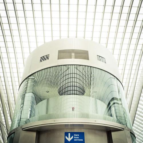 Le paradoxe de l'ascenseur (Liège-Guillemins) - Photo : Gilderic