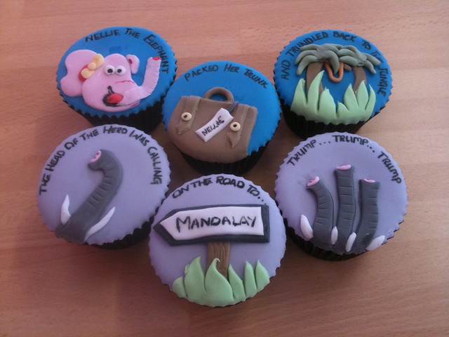 Cirencester Cupcakes - Nellie the Elephant Birthday Cupcakes