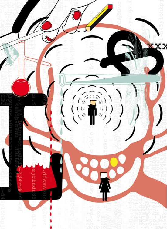 Illustration by Pisto Casero for the poem MAY by Chad Sweeney for the Air Poetry Magazine Issue 1 Summer 2011 (Minnesota)