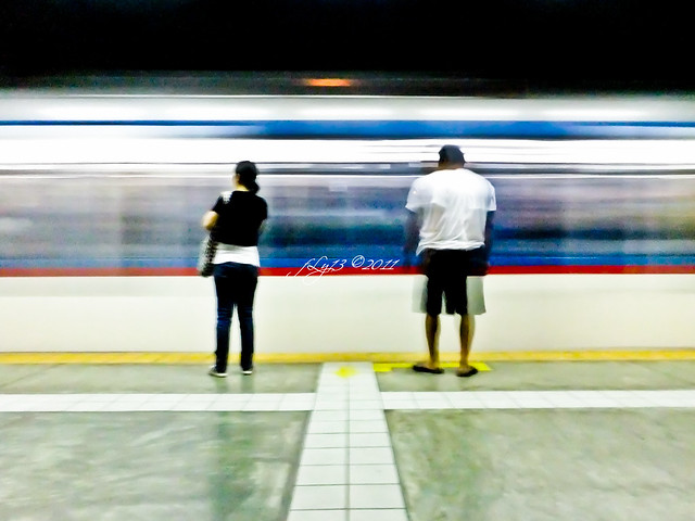 MRT slow shutter speed train
