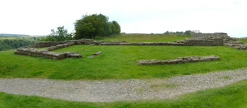 A medieval farm building inside Milecastle 49