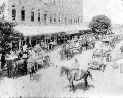 Confederate  Memorial Day parade on Main Street: Wauchula, Florida
