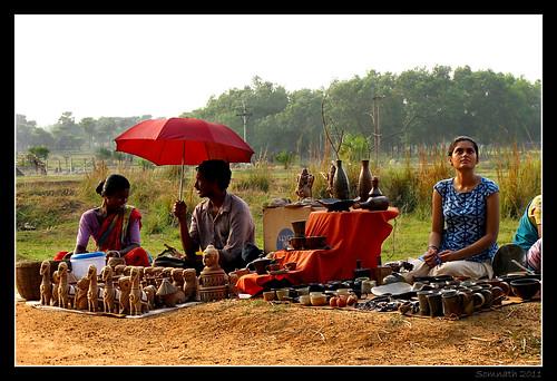 At 'Sonajhurir Haat' (Market at Sonajhuri), Santiniketan (Bolpur) - Color Version by Somnath Mukherjee Photoghaphy