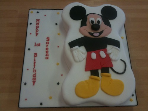 Sareena's Mickey Mouse 1st Birthday Cake