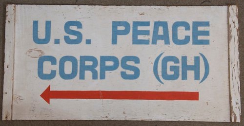 Peace Corps sign from Ghana