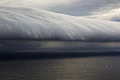 Racing the Roll Cloud, Sydney to Hobart Race, 2010, by Carlo Borlenghi